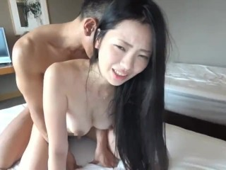 Asian wife threesome creampie